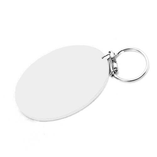 80 x 55 mm-es fehér kulcstartó szublimáláshoz, préseléshez