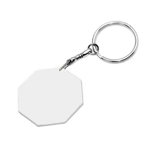 43 mm-es fehér műanyag kulcstartó szublimáláshoz, préseléshez