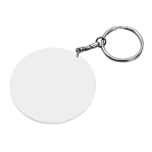 47 mm-es fehér kulcstartó szublimáláshoz, préseléshez