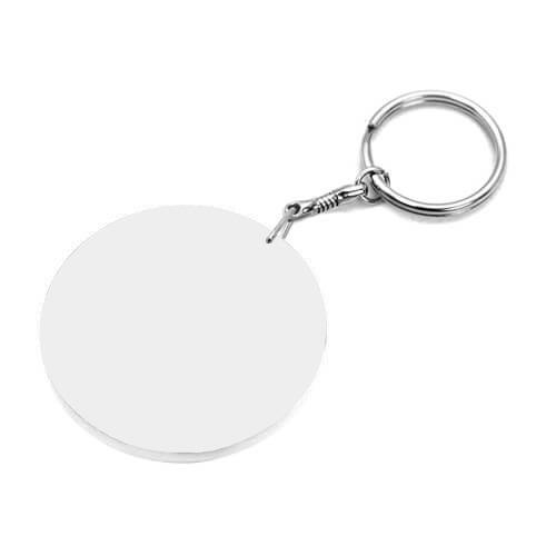 60 mm-es fehér kulcstartó szublimáláshoz, préseléshez