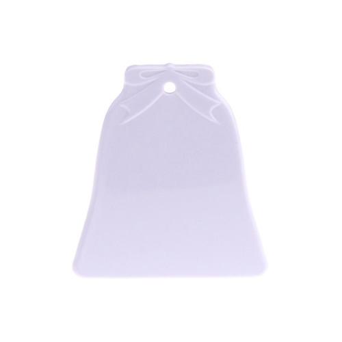 Harang alakú, világító műanyag medál szublimáláshoz, préseléshez
