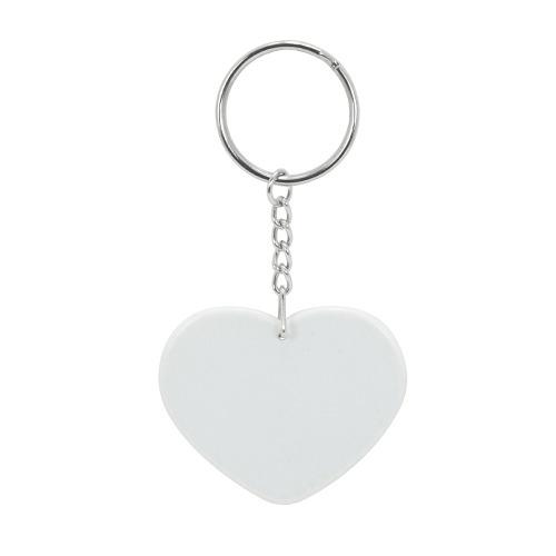 Szív alakú műanyag kulcstartó szublimáláshoz, préseléshez