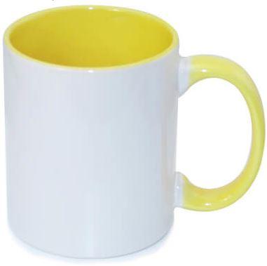 330 ml-es sárga JS Coating FUNNY bögre, szublimáláshoz, préseléshez