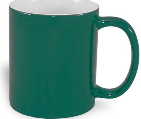330 ml-es ECO varázsbögre, zöld, szublimáláshoz, préseléshez