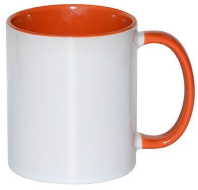 330 ml-es narancssárga JS Coating FUNNY bögre, szublimáláshoz, préseléshez