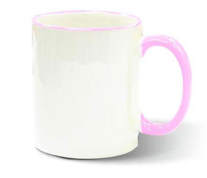 Szublimálható 330 ml-es ECO bögre rózsaszín füllel