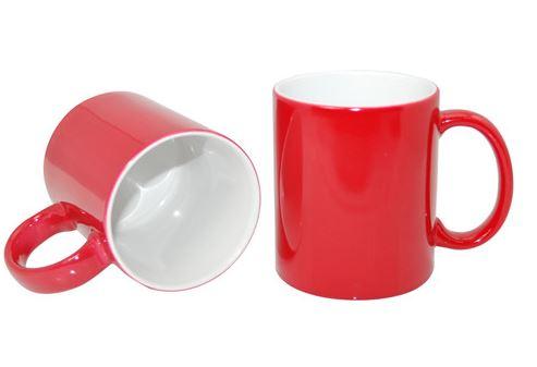 330 ml-es ECO varázsbögre, piros, szublimáláshoz, préseléshez