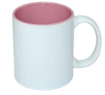 330 ml-es ECO bögre rózsaszín belső résszel, szublimáláshoz, préseléshez
