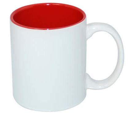 330 ml-es JS Coating bögre piros belső résszel, szublimáláshoz, préseléshez