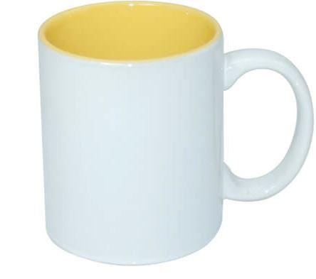 330 ml-es ECO bögre sárga belső résszel, szublimáláshoz, préseléshez