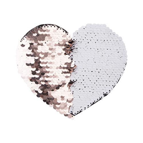 Szublimálható pólóra vasalható flitteres szív - pezsgő