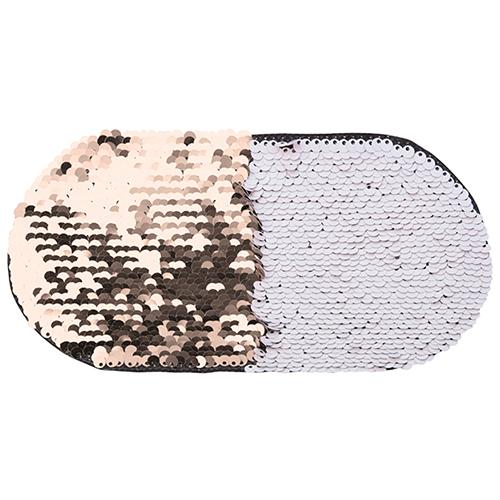 Szublimálható pólóra vasalható flitteres ovális - pezsgő