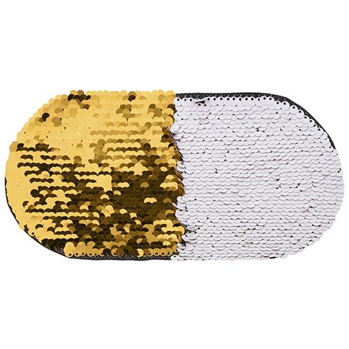 Szublimálható pólóra vasalható flitteres ovális - arany