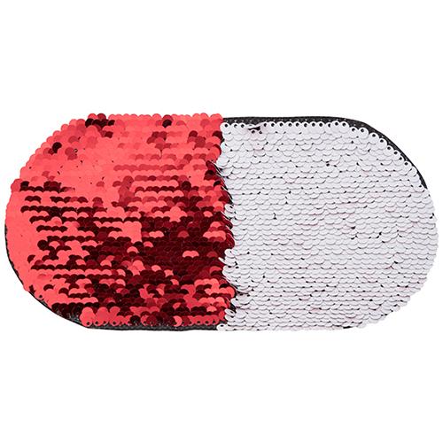 Szublimálható pólóra vasalható flitteres ovális - piros