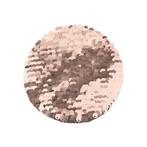 Szublimálható pólóra vasalható flitteres kör - pezsgő