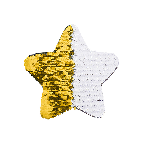 Szublimálható pólóra vasalható flitteres csillag - arany