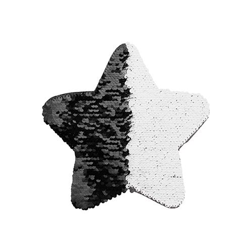 Szublimálható pólóra vasalható flitteres csillag - fekete