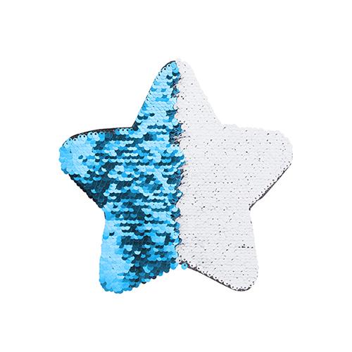 Szublimálható pólóra vasalható flitteres csillag - világoskék