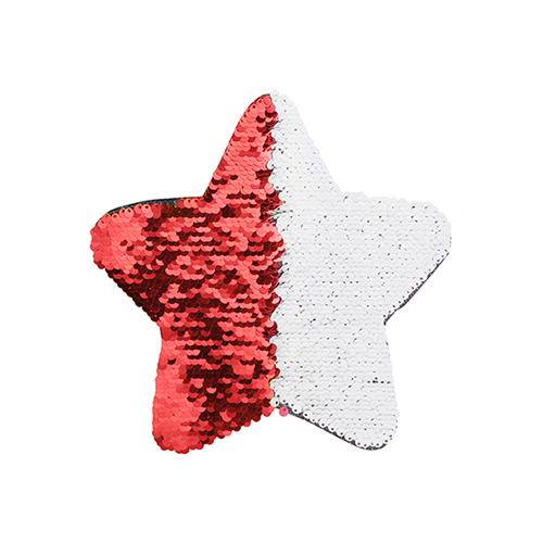 Szublimálható pólóra vasalható flitteres csillag - piros