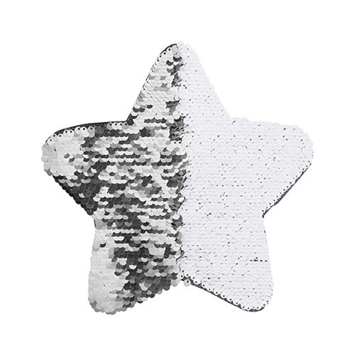 Szublimálható pólóra vasalható flitteres csillag - ezüst