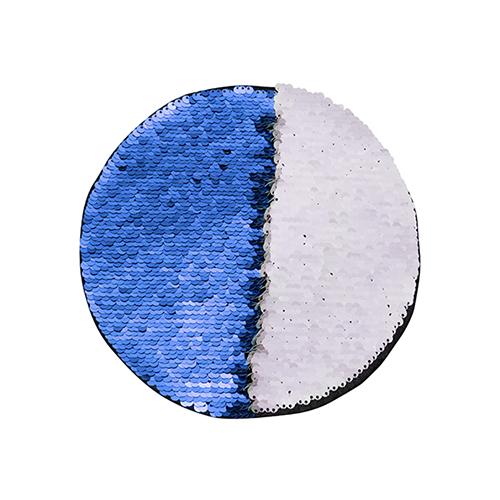 Szublimálható pólóra vasalható flitteres kör - kék