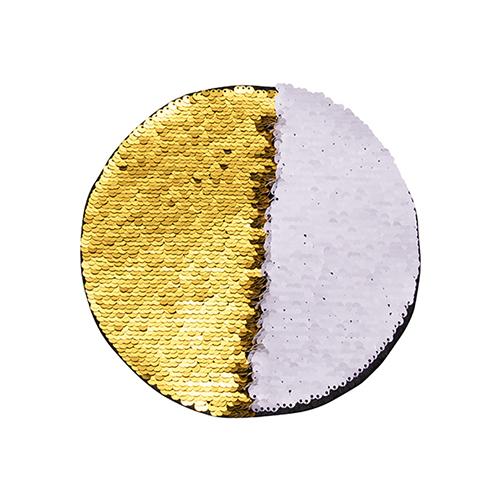 Szublimálható pólóra vasalható flitteres kör - arany