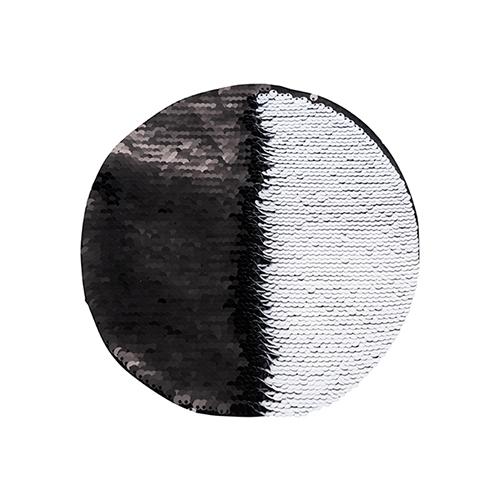 Szublimálható pólóra vasalható flitteres kör - fekete