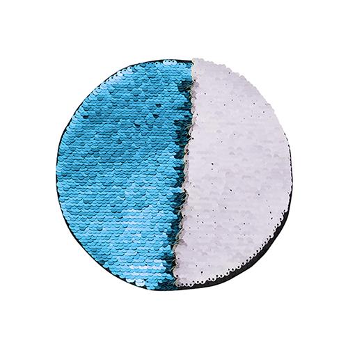 Szublimálható pólóra vasalható flitteres kör - világoskék