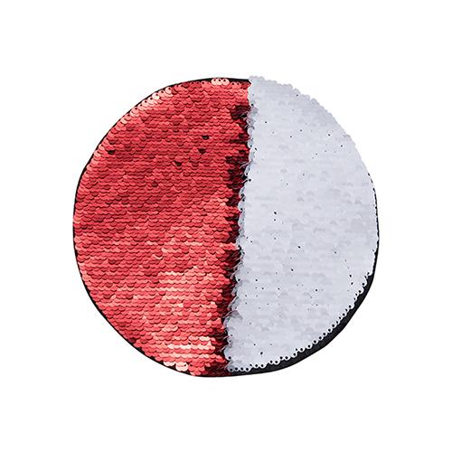 Szublimálható pólóra vasalható flitteres kör - piros