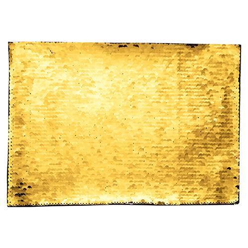 Szublimálható pólóra vasalható flitteres négyszög - arany