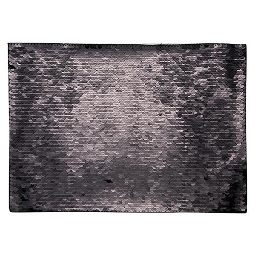 Szublimálható pólóra vasalható flitteres négyszög - fekete