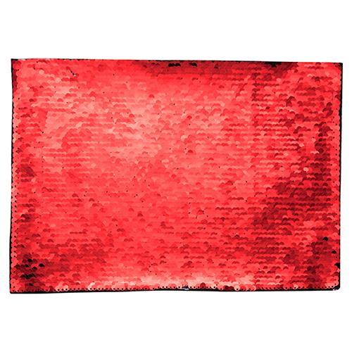 Szublimálható pólóra vasalható flitteres négyszög - piros