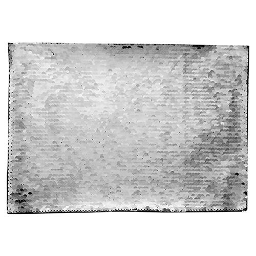 Szublimálható pólóra vasalható flitteres négyszög - ezüst