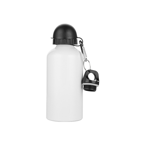 Szublimálható 500 ml Bidon palack két fedéllel - fehér
