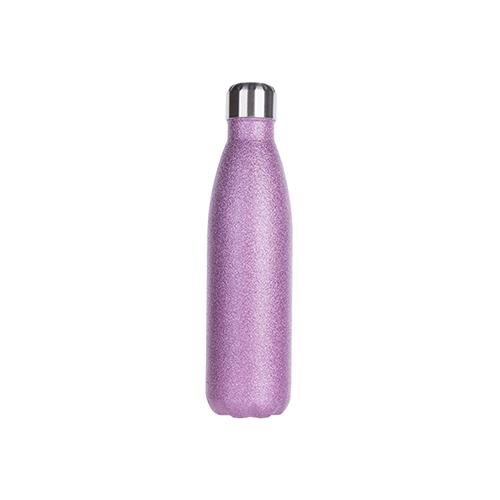 Szublimálható 500 ml-es kulacs - lila csillogós