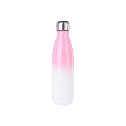 Szublimálható 500 ml-es kulacs - fehér-rózsaszín