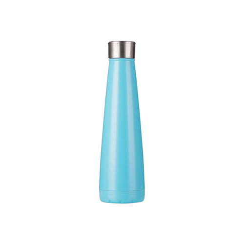 Szublimálható Bidon 420 ml piramis alakú ital palack - világos kék