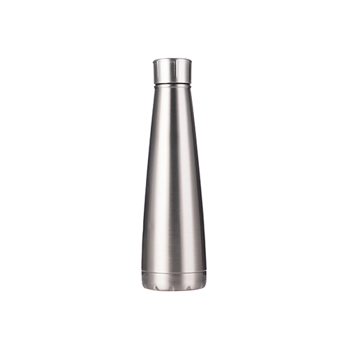 Szublimálható Bidon 420 ml piramis alakú ital palack - ezüst