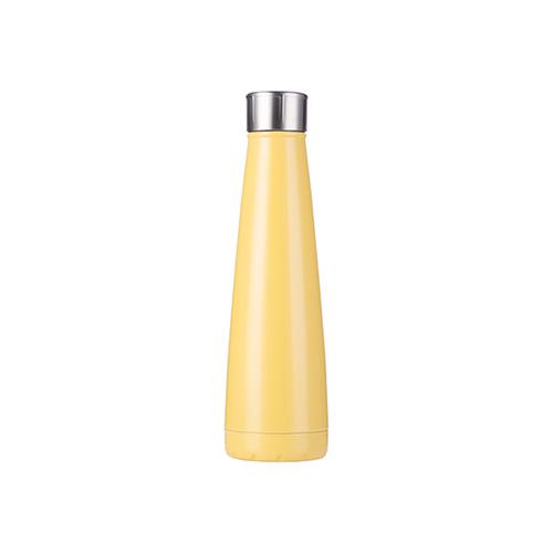 Szublimálható Bidon 420 ml piramis alakú ital palack - citromsárga