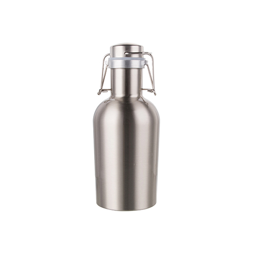 Szublimálható Growler - 1000 ml-es fém sörös üveg - ezüst