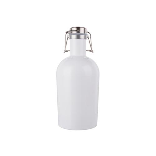Szublimálható Growler - 2000 ml-es fém sörös üveg - fehér