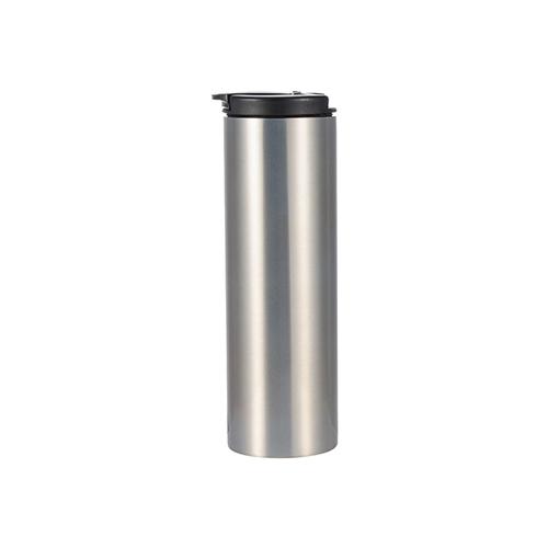 Szublimálható 500 ml-es rozsdamentes acél termosz kulacs - ezüst