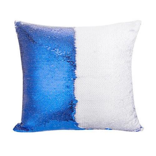 40 x 40 cm-es flitteres párnahuzat szublimáláshoz - Kék