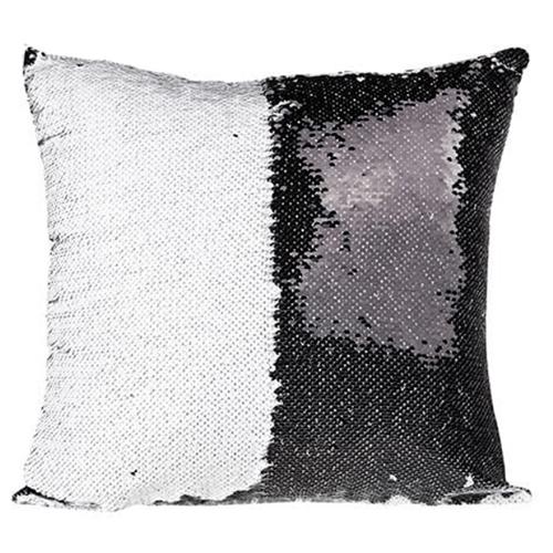 40 x 40 cm-es flitteres párnahuzat szublimáláshoz - fekete
