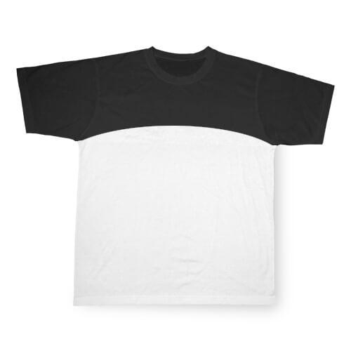 Fekete, szublimálható Cotton-Touch sport póló, L-es