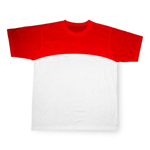 L-es, piros, szublimálható Cotton-Touch sport póló
