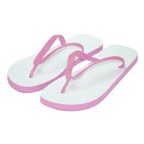Szublimálható gyerek flipflop papucs S-es pink