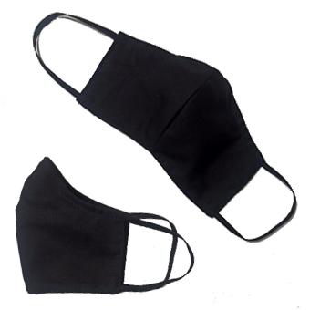 Logózható Arcmaszk szabott fekete 20db/csomag